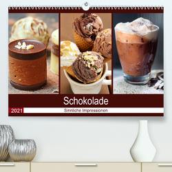 Schokolade 2021. Sinnliche Impressionen (Premium, hochwertiger DIN A2 Wandkalender 2021, Kunstdruck in Hochglanz) von Lehmann,  Steffani