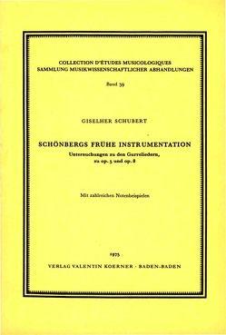 Schönbergs frühe Instrumentation von Schubert,  Giselher