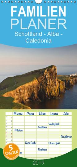 Schottland – Alba – Caledonia – Familienplaner hoch (Wandkalender 2019 , 21 cm x 45 cm, hoch) von Schonnop,  Juergen