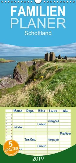 Schottland – Familienplaner hoch (Wandkalender 2019 , 21 cm x 45 cm, hoch) von Scholz,  Frauke