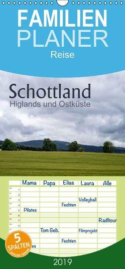 Schottland Highlands und Ostküste – Familienplaner hoch (Wandkalender 2019 , 21 cm x 45 cm, hoch) von calmbacher,  Christiane