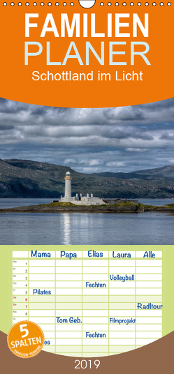 Schottland im Licht – Familienplaner hoch (Wandkalender 2019 , 21 cm x 45 cm, hoch) von Oliver Schwenn,  Dr.