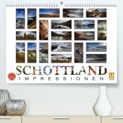 Schottland Impressionen (Premium, hochwertiger DIN A2 Wandkalender 2021, Kunstdruck in Hochglanz) von Cross,  Martina