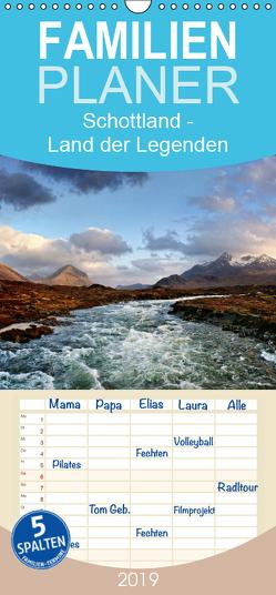 Schottland – Land der Legenden – Familienplaner hoch (Wandkalender 2019 , 21 cm x 45 cm, hoch) von Cross,  Martina