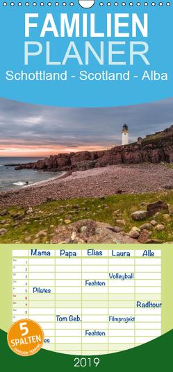 Schottland – Scotland – Alba – Familienplaner hoch (Wandkalender 2019 , 21 cm x 45 cm, hoch) von Eschrich,  Heiko