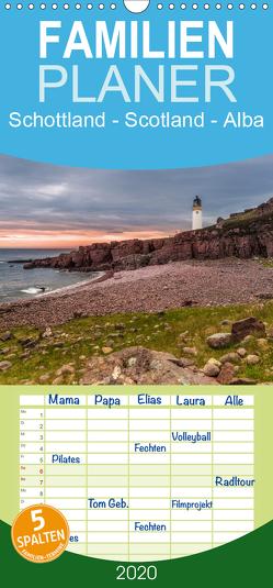 Schottland – Scotland – Alba – Familienplaner hoch (Wandkalender 2020 , 21 cm x 45 cm, hoch) von Eschrich,  Heiko