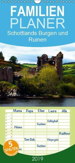 Schottlands Burgen und Ruinen – Familienplaner hoch (Wandkalender 2019 , 21 cm x 45 cm, hoch) von Wernicke-Marfo,  Gabriela