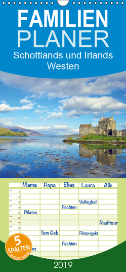 Schottlands und Irlands Westen – Familienplaner hoch (Wandkalender 2019 , 21 cm x 45 cm, hoch) von Pantke,  Reinhard