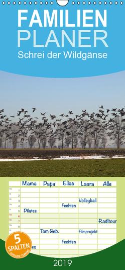 Schrei der Wildgänse – Familienplaner hoch (Wandkalender 2019 , 21 cm x 45 cm, hoch) von Poetsch,  Rolf