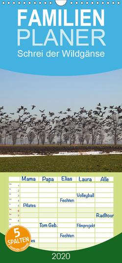 Schrei der Wildgänse – Familienplaner hoch (Wandkalender 2020 , 21 cm x 45 cm, hoch) von Poetsch,  Rolf