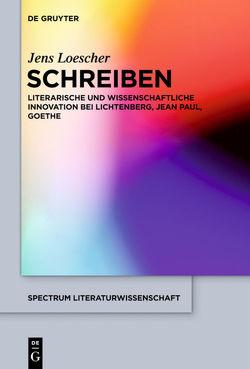 Schreiben von Loescher,  Jens