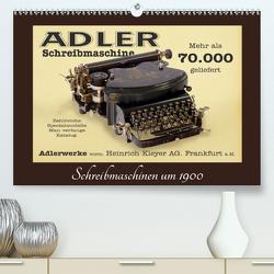 Schreibmaschinen um 1900 (Premium, hochwertiger DIN A2 Wandkalender 2021, Kunstdruck in Hochglanz) von Stoerti-md