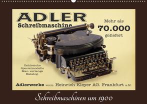 Schreibmaschinen um 1900 (Wandkalender 2021 DIN A2 quer) von Stoerti-md
