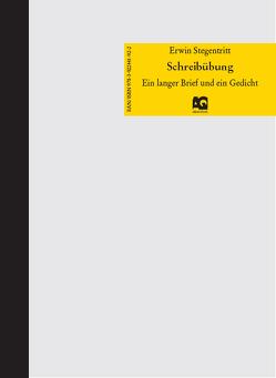 Schreibübung von Stegentritt,  Erwin