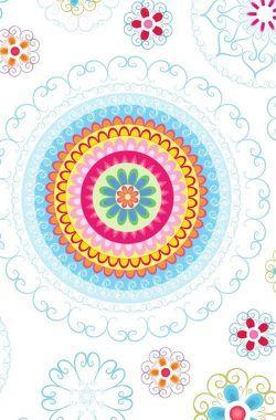 """Schreibwandel Notizbuch """"blau-buntes Blumen-Mandala"""" von Designs,  Schreibwandel, Lisann,  Melina"""
