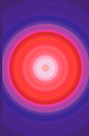 """Schreibwandel Notizbuch mit Reim-Affirmation """"Glück in meiner Herzensmitte"""" (Mandala violett pink rot) von Designs,  Schreibwandel, Lisann,  Melina"""