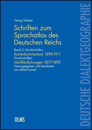 """Schriften zum """"Sprachatlas des Deutschen Reichs"""" von Wenker,  Georg"""