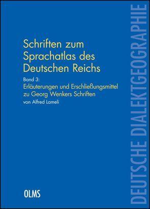 """Schriften zum """"Sprachatlas des Deutschen Reichs"""" von Lameli,  Alfred"""