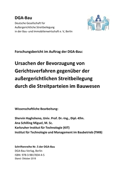 Schriftenreihe der DGA-Bau Nr. 5 von Ana,  Schilling Miguel, Diederichs,  Claus Jürgen, Haghsheno,  Shervin