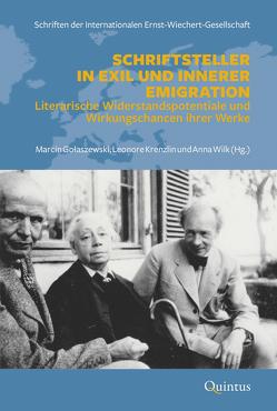 Schriftsteller in Exil und Innerer Emigration von Anna,  Wilk, Golaszewski,  Marcin, Krenzlin,  Leonore