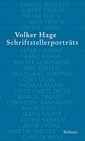 Schriftstellerporträts von Hage,  Volker
