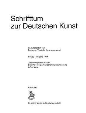 Schrifttum zur deutschen Kunst von Gast,  Otto