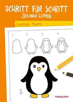 Schritt für Schritt Zeichnen lernen. Lustige Tiere von Green,  Martina