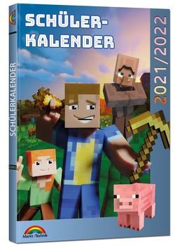 Schülerkalender 2021/2022 mit Minecraft inklusive Tipps, Tricks & Crafting-Rezepten von Haberkamp,  David