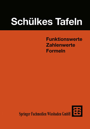 Schülkes Tafeln von Adelsberger,  Hartmut, Wunderling,  Helmut