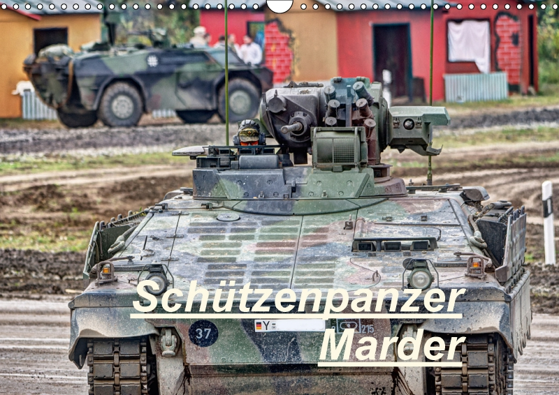 sch tzenpanzer marder wandkalender 2018 din a3 quer von hoschie med. Black Bedroom Furniture Sets. Home Design Ideas