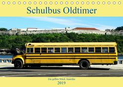 Schulbus Oldtimer – Ein gelbes Stück Amerika (Tischkalender 2019 DIN A5 quer) von von Loewis of Menar,  Henning