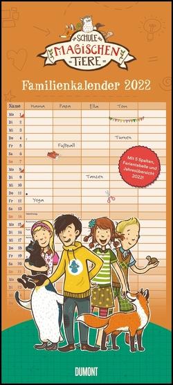 Schule der magischen Tiere Familienkalender 2022 – Wandkalender – Familienplaner mit 5 Spalten – Format 22 x 49,5 cm von Auer,  Margit, Dulleck,  Nina