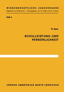 Schulleistung und Persönlichkeit von Rank,  T.