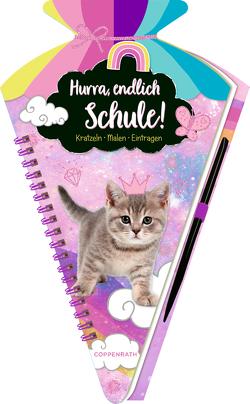 Schultüten-Kratzelbuch – Cosmic School – Hurra, endlich Schule! (Kätzchen)
