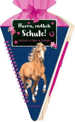 Schultüten-Kratzelbuch – Pferdefreunde – Hurra, endlich Schule! von Roß,  Thea