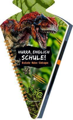 Schultüten-Kratzelbuch – T-REX World – Hurra, endlich Schule! von Frey-Spieker,  Raimund