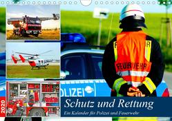 Schutz und Rettung 2020. Ein Kalender für Polizei und Feuerwehr (Wandkalender 2020 DIN A4 quer) von Lehmann (Hrsg.),  Steffani