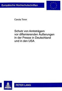 schutz von amtstrgern vor diffamierenden uerungen in der presse in deutschland und in den usa von - Leichtfertige Steuerverkurzung Beispiele