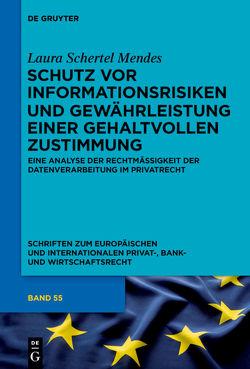 Schutz vor Informationsrisiken und Gewährleistung einer gehaltvollen Zustimmung von Schertel Mendes,  Laura