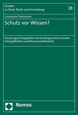 Schutz vor Wissen? von Teetzmann,  Constantin