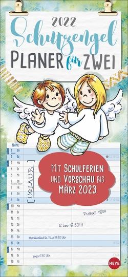 Schutzengel Planer für zwei Kalender 2022 von Heye