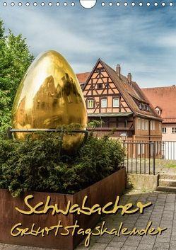 Schwabach Geburtstagskalender (Wandkalender 2018 DIN A4 hoch) von Klinder,  Thomas