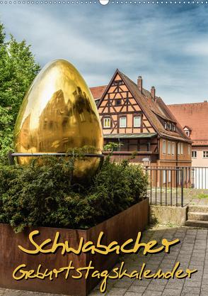 Schwabach Geburtstagskalender (Wandkalender 2020 DIN A2 hoch) von Klinder,  Thomas