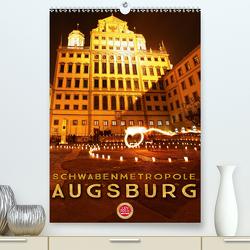 Schwabenmetropole Augsburg (Premium, hochwertiger DIN A2 Wandkalender 2020, Kunstdruck in Hochglanz) von Cross,  Martina