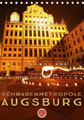 Schwabenmetropole Augsburg (Tischkalender 2018 DIN A5 hoch) von Cross,  Martina