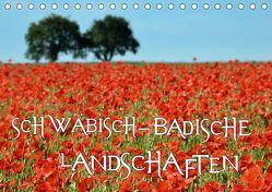 SCHWÄBISCH-BADISCHE LANDSCHAFTEN (Tischkalender 2019 DIN A5 quer) von Mathias,  Simone