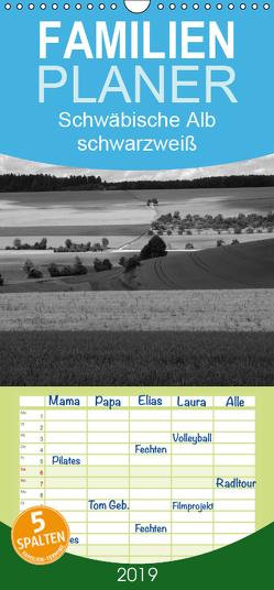 Schwäbische Alb schwarzweiß – Familienplaner hoch (Wandkalender 2019 , 21 cm x 45 cm, hoch) von Haas,  Willi