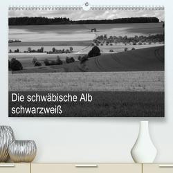 Schwäbische Alb schwarzweiß (Premium, hochwertiger DIN A2 Wandkalender 2021, Kunstdruck in Hochglanz) von Haas,  Willi
