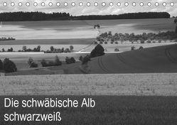 Schwäbische Alb schwarzweiß (Tischkalender 2019 DIN A5 quer) von Haas,  Willi