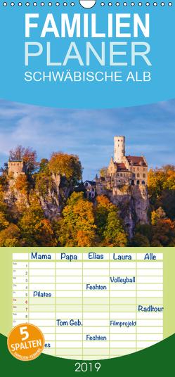 SCHWÄBISCHE ALB W.Dieterich – Familienplaner hoch (Wandkalender 2019 , 21 cm x 45 cm, hoch) von Dieterich,  Werner